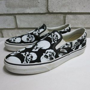 Vans Canvas Leather Skull Boat Comfort Shoes 12 D